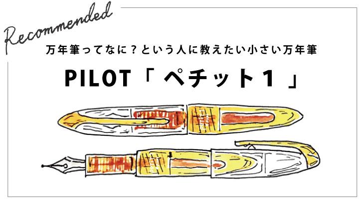 万年筆ってなに?という人に教えたい小さい万年筆 PILOT「 ペチット1 」